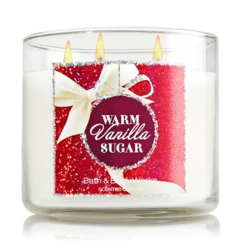Bath & Body Works - Bougie 3 mèches Warm Vanilla Sugar