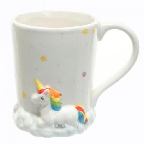 mug licorne arc en ciel sur son nuage mug tasse licorne. Black Bedroom Furniture Sets. Home Design Ideas