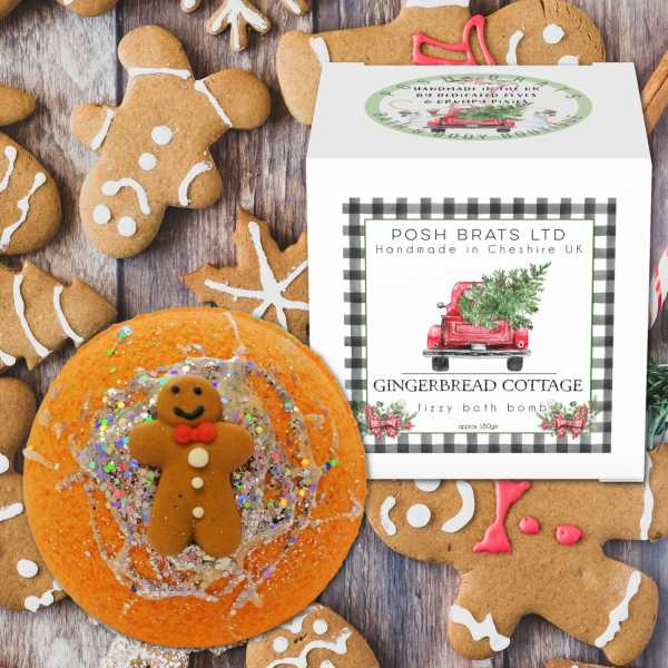 Posh Brats - Gingerbread Cottage Fizzy Bath Bomb