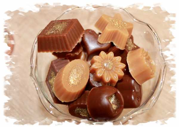 Golden chocolate truffle soap