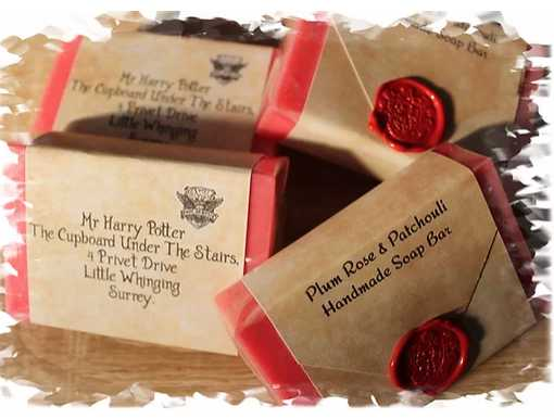 Harry Potter Letter Soaps