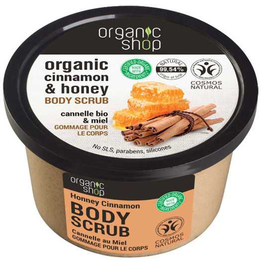 Organic Shop - Organic cinnamon & honey body scrub