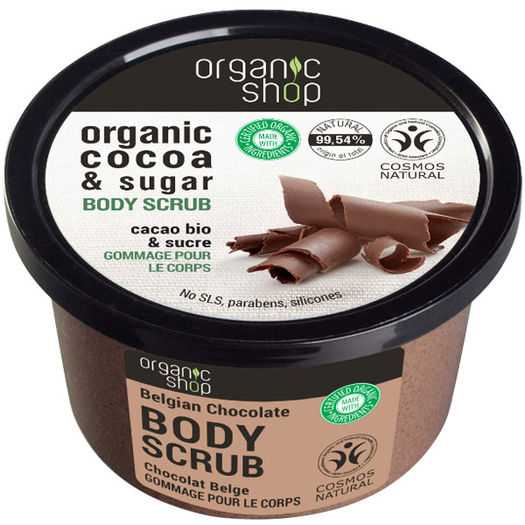 Organic Shop - Organic cocoa & sugar body scrub