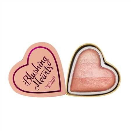 Makeup revolution - I love Makeup - Blushing Hearts triple Baked Blusher - Peachy Pink Kisses