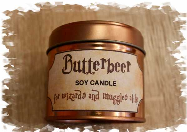Butterbeer soy candle